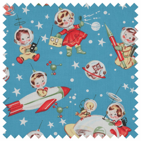 Michael Miller Retro Rocket rascals craft box at Stitch Studio UK