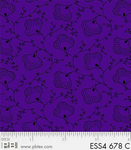 P&B Textiles BEAR ESSENTIALS 4 cotton fabrics Purple ESS4 678 C