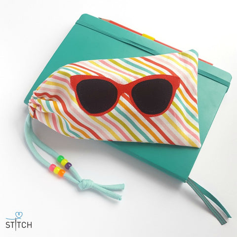 Sunglasses case FREE sewing pattern at Stitch Studio UK