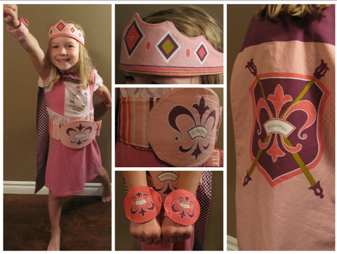 Princess Cape panel Pink