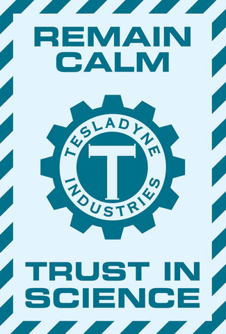 Tesladyne Trust in Science Mini Poster