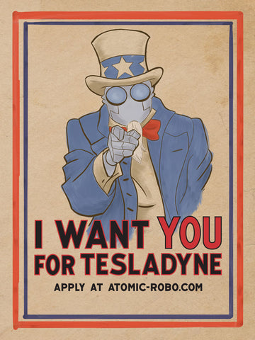 Tesladyne Recruitment Mini Poster