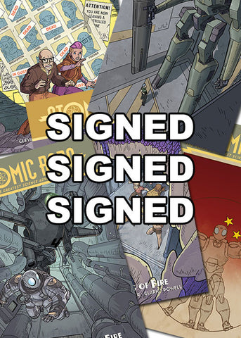 Atomic Robo and the Ring of Fire #1 - 5 SIGNED