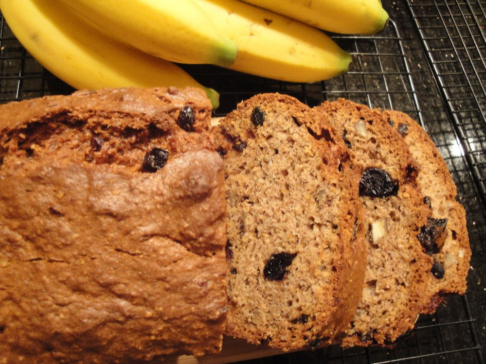 NEW Gluten Free Banana Bread with Roasted Flaxseed