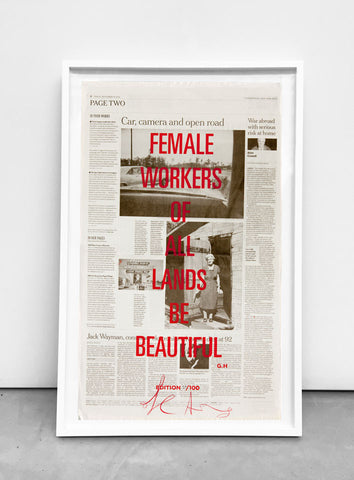 FEMALE WORKERS OF ALL LANDS BE BEAUTIFUL