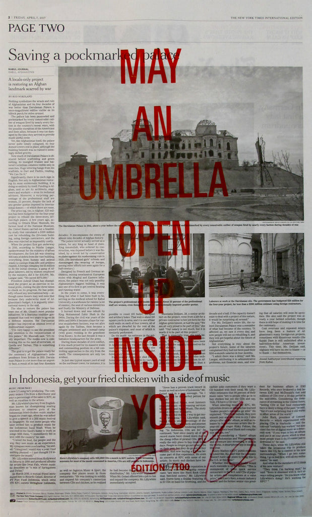 MAY AN UMBRELLA OPEN UP INSIDE YOU