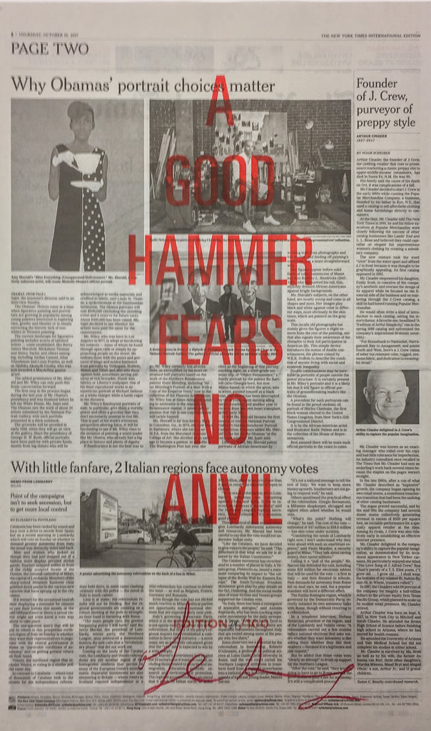 A GOOD HAMMER FEARS NO ANVIL