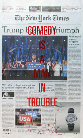 COMEDY IS A MAN IN TROUBLE