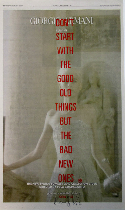 DON'T START WITH THE GOOD OLD THINGS BUT THE BAD NEW ONES