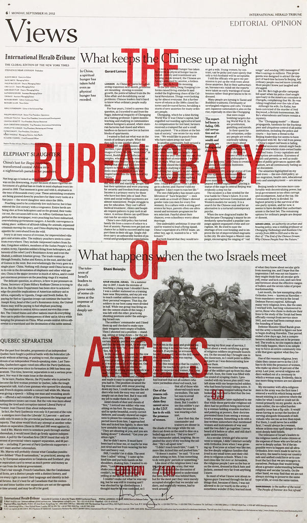 THE BUREAUCRACY OF ANGELS