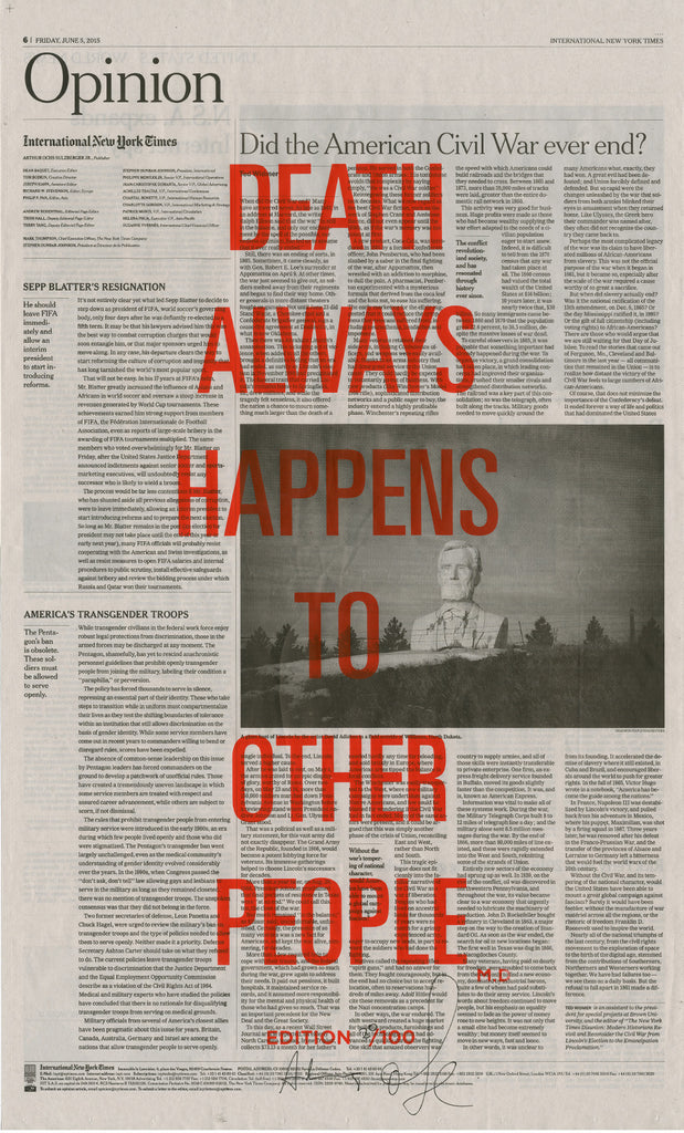 DEATH ALWAYS HAPPENS TO OTHER PEOPLE