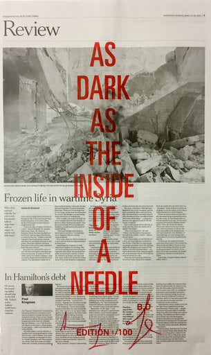 AS DARK AS THE INSIDE OF A NEEDLE