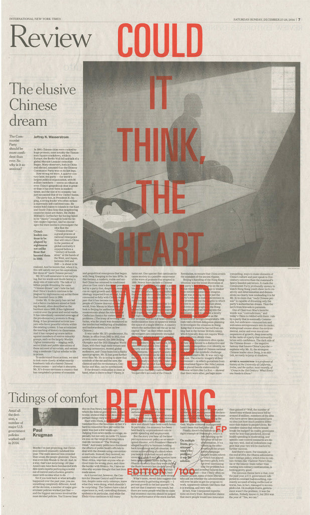 COULD IT THINK, THE HEART WOULD STOP BEATING
