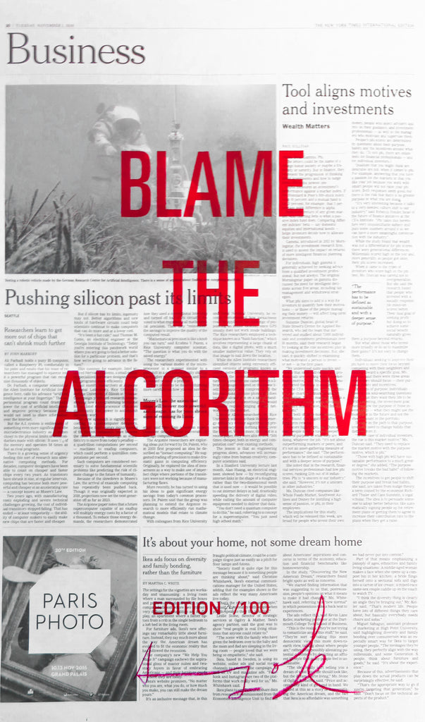 BLAME THE ALGORITHM