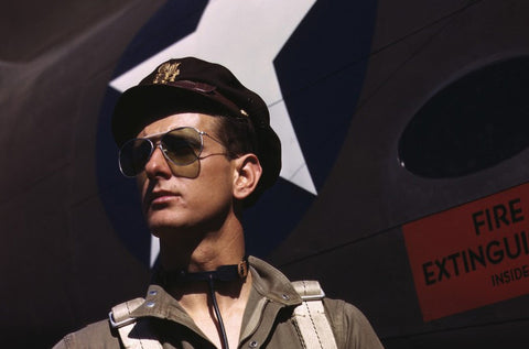 Our idea of cool sunglasses has its roots in the World Wars.