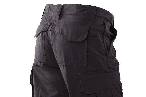 Velcro flapped rear pockets and hidden zipper pockets give plenty of places to hold gear