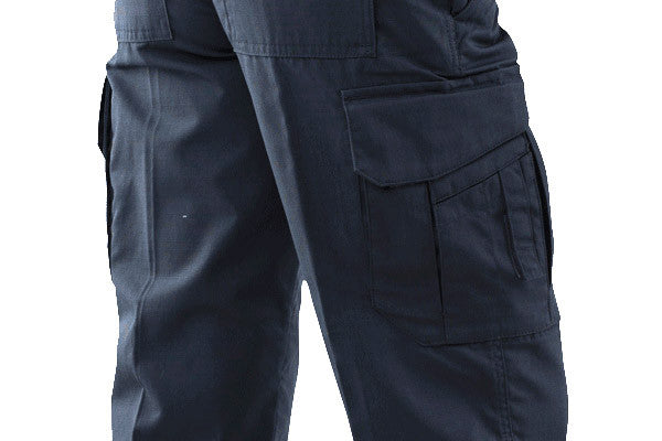 Cargo pockets have a Velcro-free covered flap and inverted bellow. Very low profile.