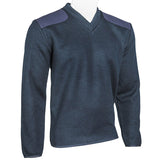 V-Neck Fleece Lined Commando Sweater