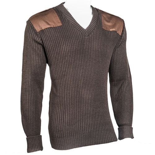 V-Neck Rib Commando Sweater