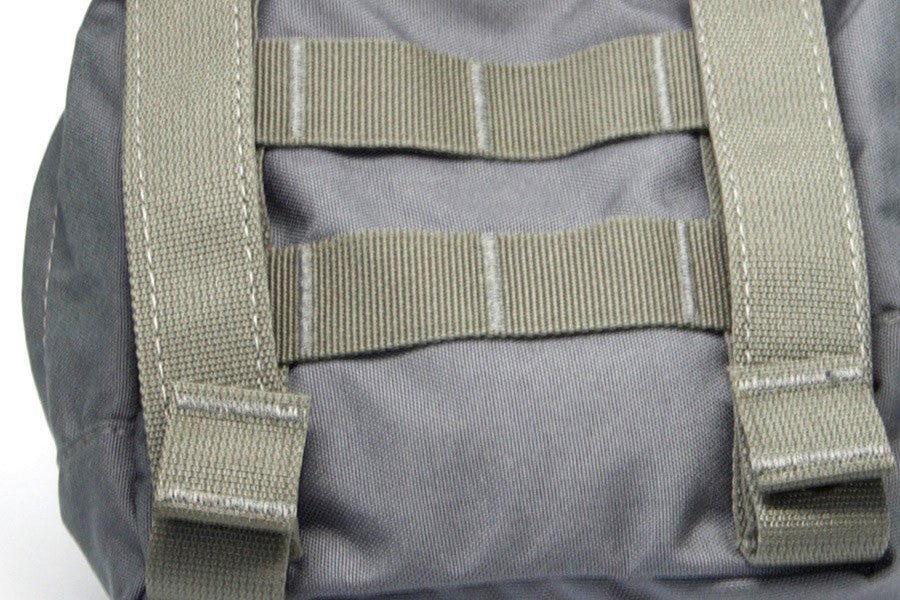 Attaches to MOLLE vests, packs, and carriers with two snap straps