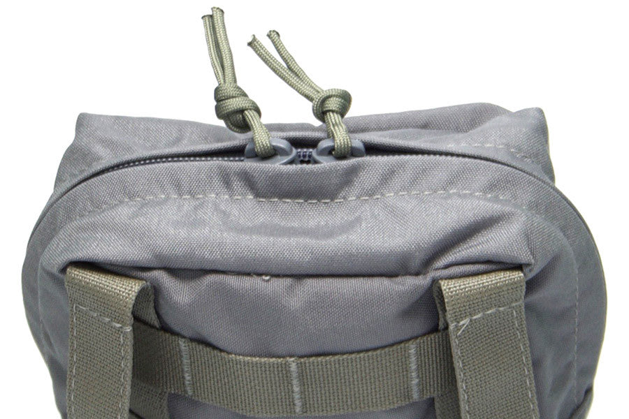 Dual zipper sliders give easy access to pouch contents