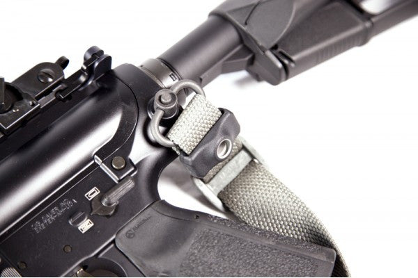 Attach the Burnsed Socket onto the rear of the sling toward the rear receiver or typical single point sling location