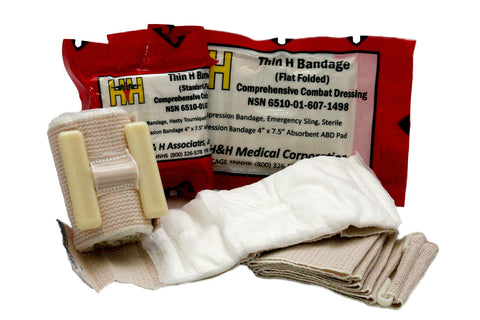 Thin H-Bandage Compression Dressing