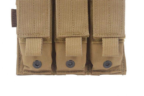 Drainage grommets on the bottom of each pistol mag pouch