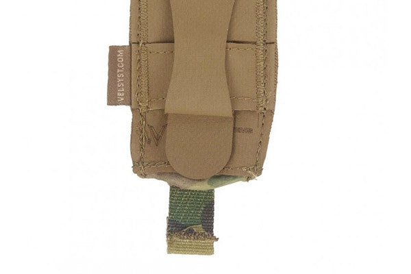 Attaches to MOLLE vests, packs, and carriers with one Helium Whisper strap