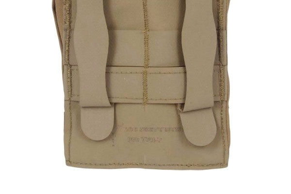 Attaches to MOLLE vests, packs, and carriers with two Helium Whisper straps