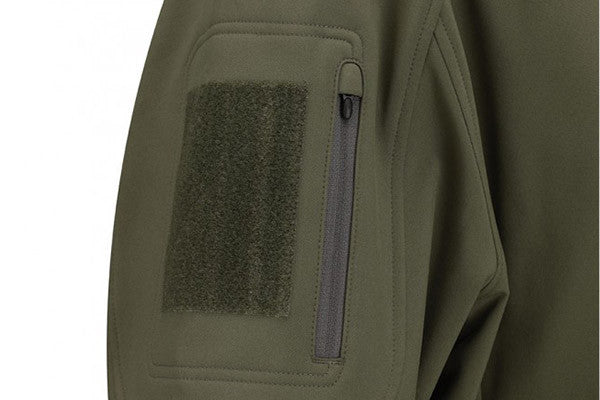 Bicep pocket on each sleeve with a zipper closure keep import items close at hand. Soft-Side Velcro panel lets you attach Patches and ID.