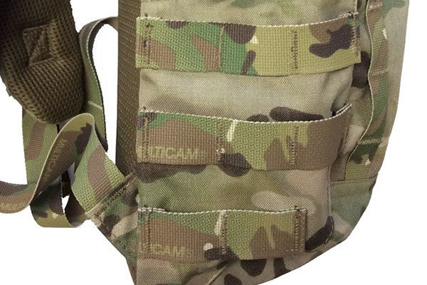 MOLLE webbing for attaching pouches to each side