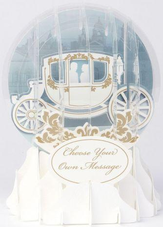 Globe Card Wedding Carriage