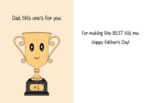 Adorable AF Trophy Card