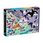 Animal Kingdom 100-Piece Double-Side Puzzle