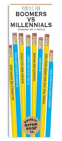 Boomers vs. Millennials Pencils 8pk