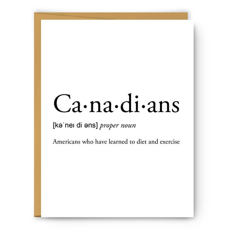 Canadians Card