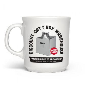 Cat In A Box Mug 16oz