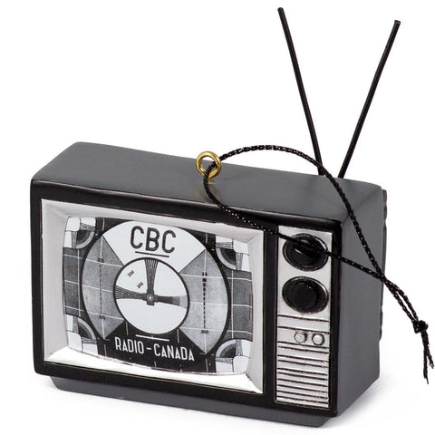 CBC Black and White TV Ornament
