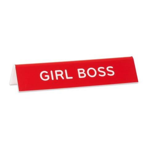 Desk Sign Girl Boss