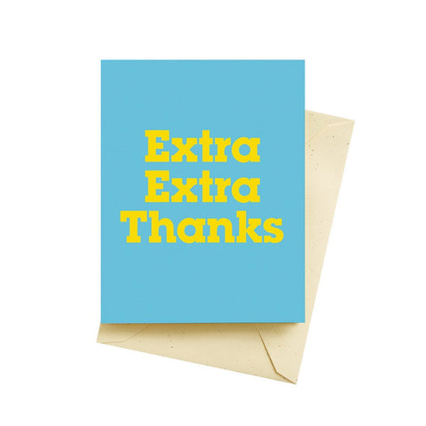 Extra Thanks Card