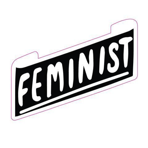 Feminist Banner Big Sticker