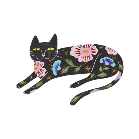Floral Kitty Temporary Tattoo Set of 2