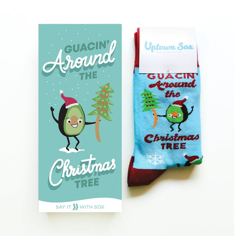 Guacin' Around The Christmas Tree Card and Unisex Socks Gift Set