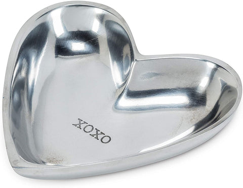 Heart Shaped XOXO Trinket Dish