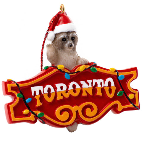 Honest Eds Toronto Raccoon Ornament