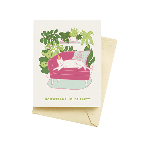 Houseplant House Party Card