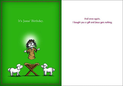 It's Jesus' Birthday Holiday Card