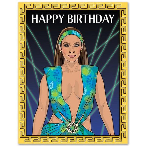 JLo Birthday Card