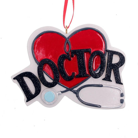 Kurt Adler Doctor Heart Ornament